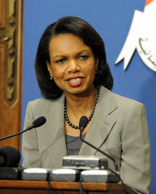 File photo of U.S. Secretary of State Condoleezza Rice dated June 16, 2008. (UPI Photo)