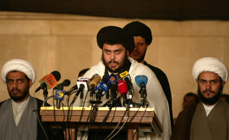Shiite Cleric Moqtada Sadr (UPI Photo/Mitch Prothero)