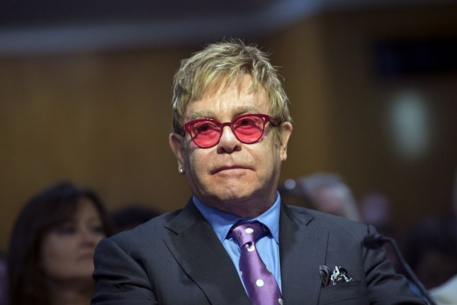 Entertainer and AIDS advocate Sir Elton John on Sunday tweeted support for the families and victims involved in the mass shooting at an Orlando, Fla., nightclub. File Photo by Kevin Dietsch/UPI