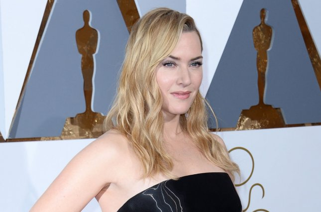 Kate Winslet attends the Academy Awards on February 28. The actress spoke to thousands of young people Wednesday at WE Day U.K. File Photo by Jim Ruymen/UPI