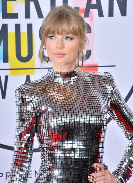 Taylor Swift arrives at the 46th annual American Music Awards on Tuesday. Photo by Jim Ruymen/UPI