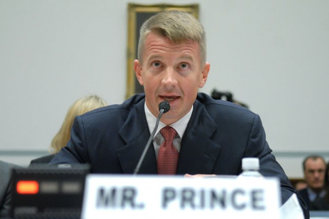 Blackwater USA founder Erik Prince allegedly lied to the House intelligence committee as part of its Russia interference investigation. File Photo by Kevin Dietsch/UPI