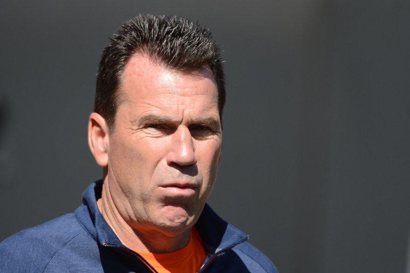 Denver Broncos Head Coach Gary Kubiak. Photo by Terry Schmitt/UPI