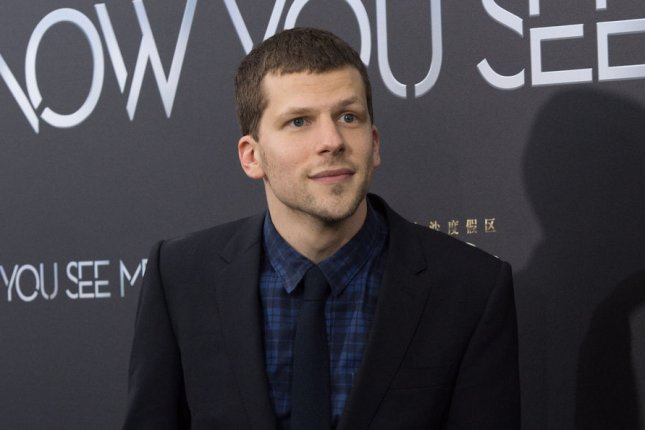 Jesse Eisenberg attends the New York premiere of Now You See Me 2 on June 6, 2016. The actor recently welcomed his first child. File Photo by Bryan R. Smith/UPI