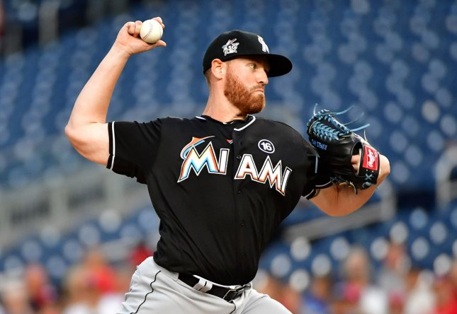 Dan Straily and the Miami Marlins take on the San Francisco Giants on Tuesday. Photo by Kevin Dietsch/UPI