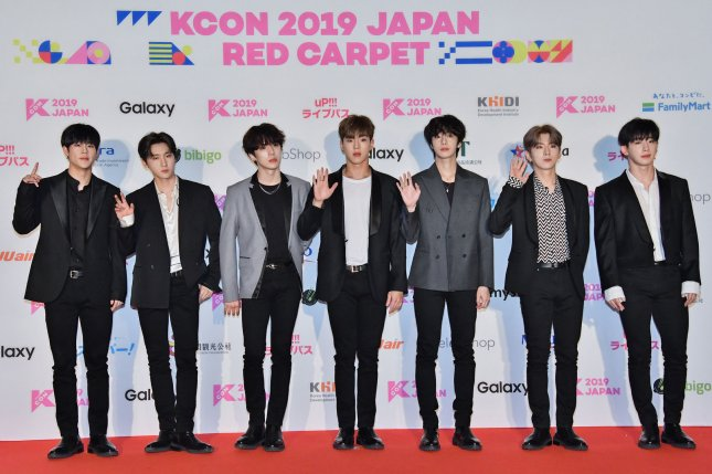 Monsta X will take the stage with Steve Aoki and Darren Criss at the iHeartRadio Music Festival in September. File Photo by Keizo Mori/UPI