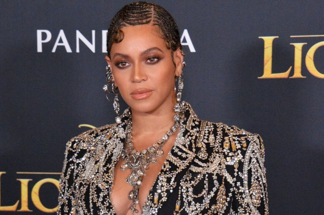 Cast member Beyonce, the voice of Nala in The Lion King, attends the premiere of the film in Los Angeles on July 9. Photo by Jim Ruymen/UPI