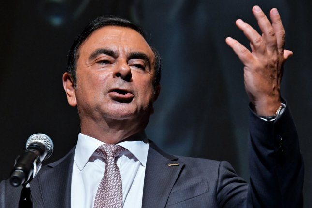Former Nissan CEO Carlos Ghosn attends the French Film Festival in Yokohama, Japan, on June 21, 2018. File Photo by Keizo Mori/UPI