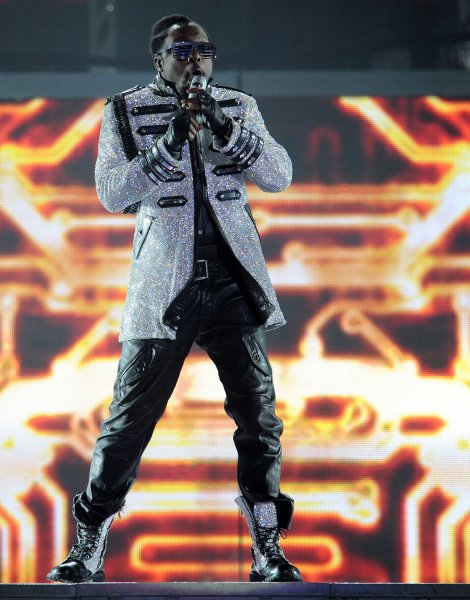 American singer Will.I.Am performs with The Black Eyed Peas at the 02 Arena in London on May 5, 2010. UPI/Rune Hellestad