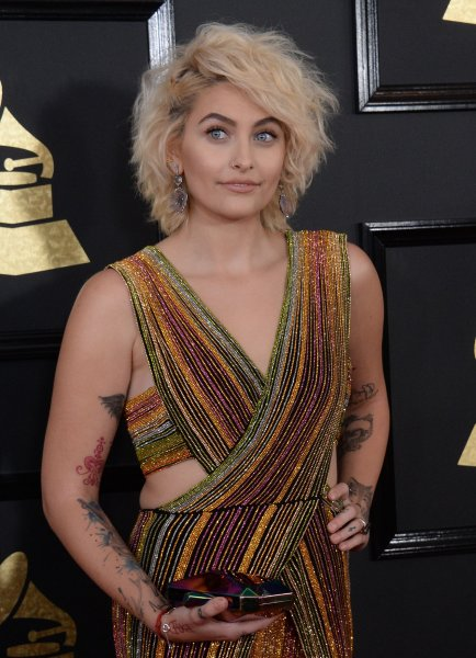 Paris Jackson at the Grammy Awards on Sunday. Photo by Jim Ruymen/UPI