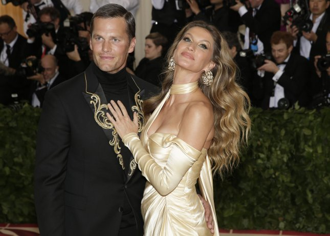 Tom Brady and Gisele Bundchen arrive on the red carpet at The Metropolitan Museum of Art's Costume Institute Benefit Heavenly Bodies: Fashion and the Catholic Imagination at Metropolitan Museum of Art in New York City in May. Photo by John Angelillo/UPI