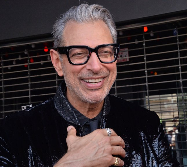 Jeff Goldblum, seen here receiving his star on the Hollywood Walk of Fame June 14, 2018, is the subject of a 10-foot-tall statue in London celebrating the 25th anniversary of the film Jurassic Park. File Photo by Jim Ruymen/UPI