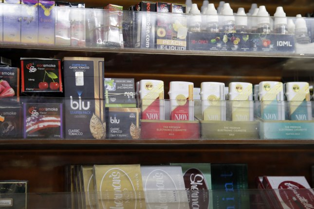 Under the ban, non-tobacco flavored e-cigarettes will be banned in the United States. File Photo by John Angelillo/UPI