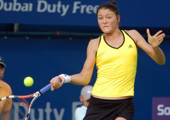 Dinara Safina of Russia, shown during a match Feb. 17, 2009. (UPI Photo/Norbert Schiller)