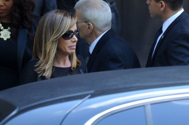 Melissa Rivers attends the funeral of Joan Rivers at Temple Emanu-El in New York City on September 7, 2014. Rivers stopped breathing during a surgical procedure on her vocal cords last week and had to be rushed from the clinic to Mount Sinai Hospital. Joan Rivers was declared dead Thursday after her daughter Melissa Rivers made the decision to take her off life support. UPI/Dennis Van Tine
