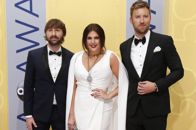 Lady Antebellum arrives at the 2016 Country Music Awards on November 2, 2016. The band has made a comeback with a new single, album and upcoming tour. File Photo by John Sommers II/UPI