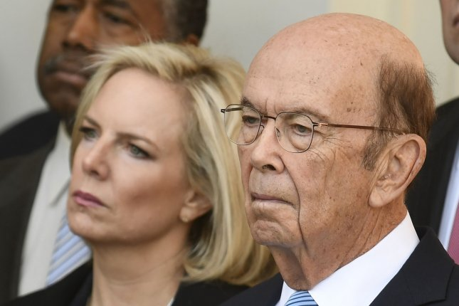 The Office of Government Ethics declined to certify disclosure documents from Commerce Secretary Wilbur Ross (R) after they found he had not divested from a bank after claiming he had. Photo by Mike Theiler/UPI