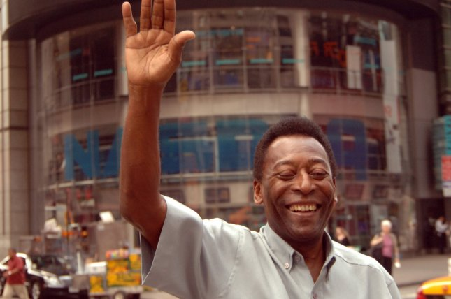 Brazilian soccer great Pele takes part in opening bell ceremonies at the NASDAQ stock exchange in New York City on July 11, 2007. File Photo by Ezio Petersen/UPI