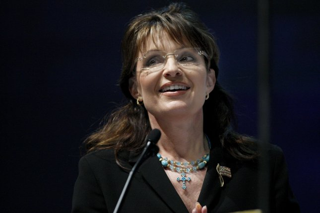 Former vice-presidential candidate Sarah Palin speaks at the National Rifle Association's Leadership Forum in Charlotte, North Carolina on May 14, 2010. UPI/Nell Redmond .