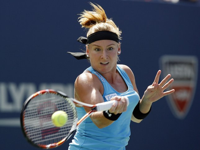 Bethanie Mattek-Sands, shown in a 2009 file photo, will play in Saturday's title match at the Hobart International in Australia after posting a three-set win Friday. UPI/John Angelillo