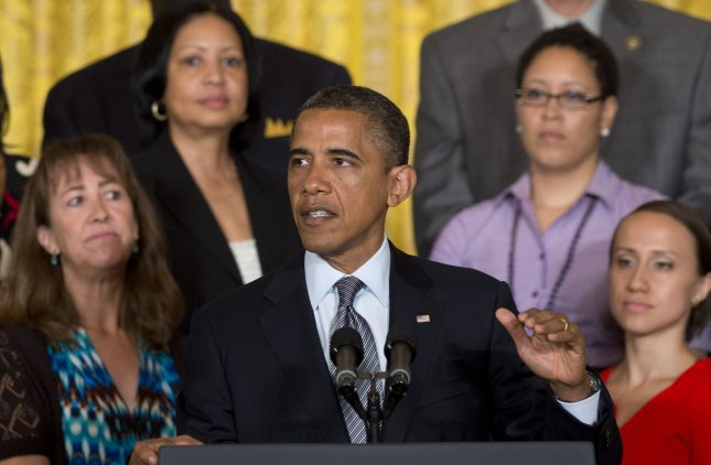 U.S. President Barack Obama urges Congress to extend tax cuts for the middle class in the East Room at the White House in Washington, July 9, 2012. UPI/Kevin Dietsch.