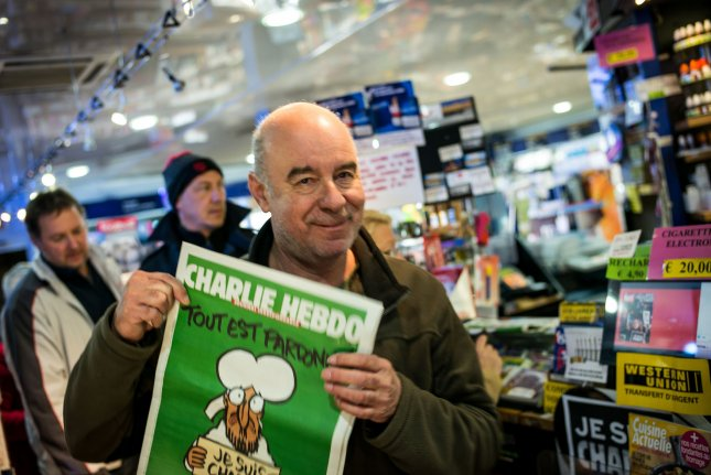 The shootings at the office of the magazine Charlie Hebdo brought a free speech crackdown by French authorities.. Photo by Fred Lancelot /UPI