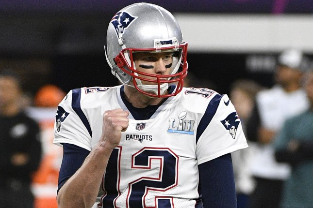 a4c35c90b New England Patriots quarterback Tom Brady celebrates a touchdown during  the third quarter of Super Bowl LII on February 4 at U.S. Bank Stadium in  ...