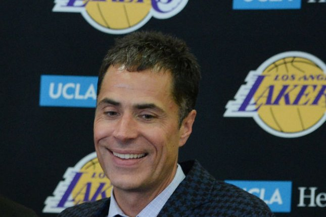Rob Pelinka has been the Lakers' general manager since 2017. File Photo by Jim Ruymen/UPI