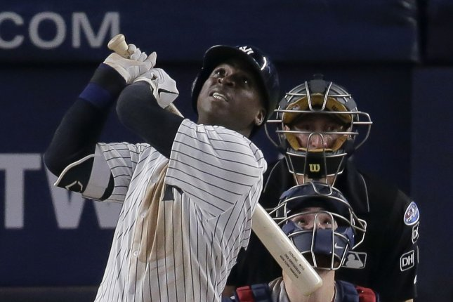 New York Yankees shortstop Didi Gregorius had a career-high 27 home runs in 2018. File Photo by Ray Stubblebine/UPI