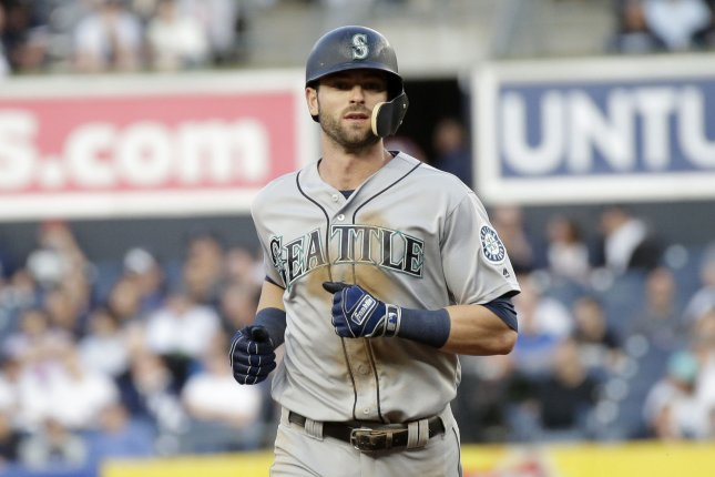 Seattle Mariners outfielder Mitch Haniger was limited to 63 games last season and batted .220 with 15 home runs and 32 RBIs. File Photo by John Angelillo/UPI