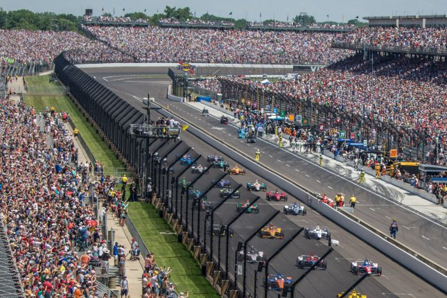 The Indianapolis Motor Speedway has a total capacity of about 400,000, but expects about 25% of that total for the 2020 Indianapolis 500. File Photo by Edwin Locke/UPI