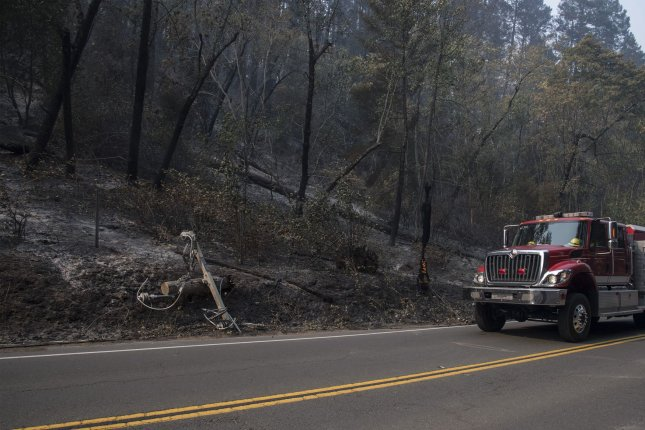 Southern California Edison conducted a Public Safety Power Shutoff leaving more than 3,000 customers in the state without fire amid an increased wildfire threat after large fires earlier in the year sparked by power lines.Photo by Terry Schmitt/UPI