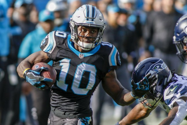 Wide receiver Curtis Samuel agreed to a three-year deal with the Washington Football Team on Wednesday and now will play alongside wide receiver Terry McLaurin. File Photo by Nell Redmond/UPI
