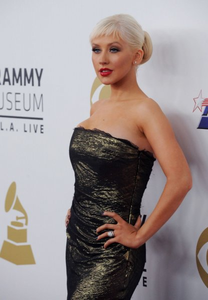 Singer Christina Aguilera arrives at The Grammy Nominations Concert Live! Countdown to Music's Biggest Night in Los Angeles on December 3, 2008. (UPI Photo/Jim Ruymen)