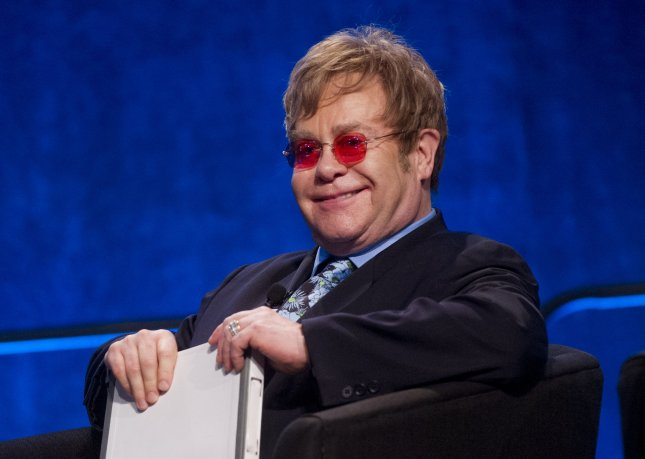 Sir Elton John delivers participates in a panel discussion during the XIX International AIDS Conference on July 23, 2012 in Washington, D.C. UPI/Kevin Dietsch