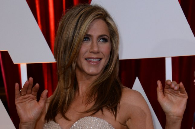 Jennifer Aniston arrives at the 87th Academy Awards at the Hollywood & Highland Center in Los Angeles on February 22, 2015. Photo by Jim Ruymen/UPI