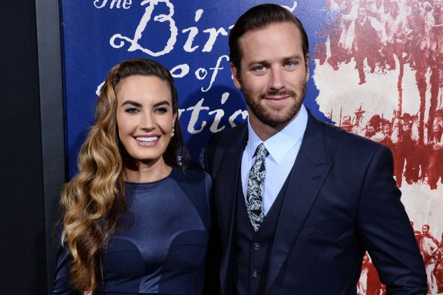 Armie Hammer (R) and Elizabeth Chambers at the Los Angeles premiere of The Birth of a Nation on September 21, 2016. File Photo by Jim Ruymen/UPI