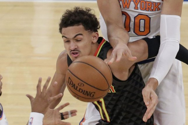 Trae Young and the Atlanta Hawks face the Detroit Pistons on Friday. Photo by John Angelillo/UPI
