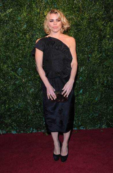 English actress Billie Piper attends the London Evening Standard Theatre Awards at The Palladium in London on November 30, 2014. UPI/Paul Treadway