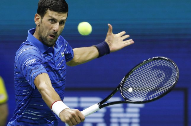 Novak Djokovic will attempt to win a ninth Australian Open title Sunday in Melbourne. File Photo by John Angelillo/UPI