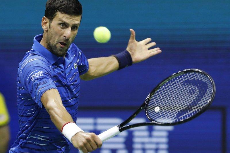 Novak Djokovic will attempt to win a ninth Australian Open title Sunday in Melbourne. File Photo by John Angelillo/UPI