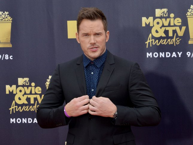 Chris Pratt has announced when and where moviegoers can see a preview of Jurassic World: Dominion. File Photo by Jim Ruymen/UPI