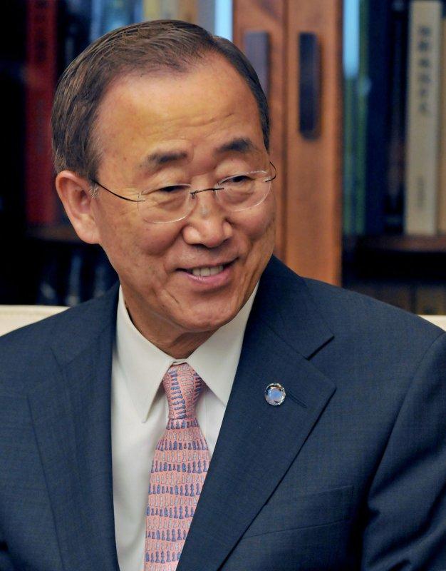 U.N. Secretary-General Ban Ki-moon. File photo. UPI/keizo Mori
