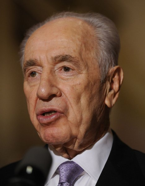 Israeli President Shimon Peres says he won't turn his back on peace talks because of a Fatah-Hamas accord signed last week. UPI/Roger L. Wollenberg