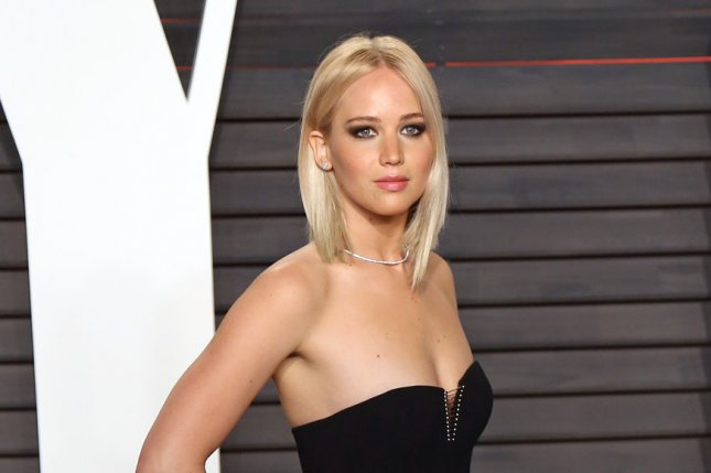 Jennifer Lawrence at the Vanity Fair Oscar party on February 28. The actress plays Mystique in the X-Men reboot movies. File Photo by David Silpa/UPI
