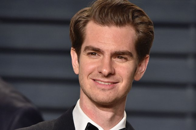 Andrew Garfield attends the Vanity Fair Oscar party in Beverly Hills on February 26. The actor is to star in the Broadway production of Angels in America this winter. File Photo by Christine Chew/UPI
