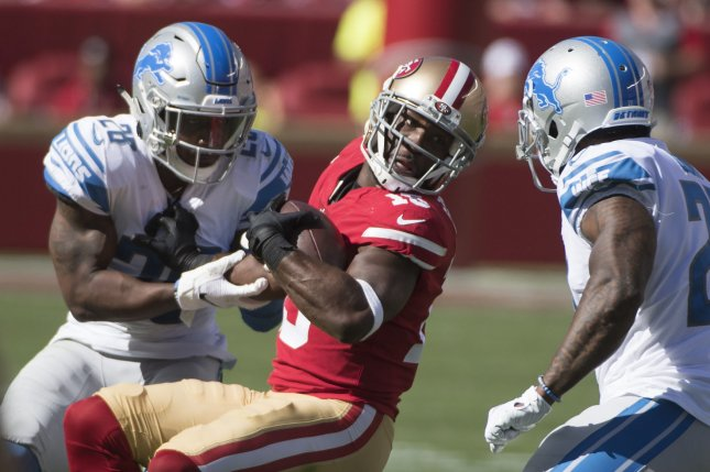 Detroit Lions safety Quandre Diggs (28) originally signed a three-year contract extension with the Lions last season. File Photo by Terry Schmitt/UPI
