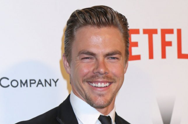 Derek Hough injured himself in 'Dancing with the Stars' rehearsal Monday. File photo by David Silpa/UPI