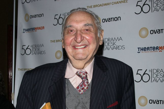 Fyvush Finkel, seen here at the Reception for the Drama Desk Award Nominees on May 2, 2011, died Sunday at the age of 93. File Photo by Laura Cavanaugh/UPI