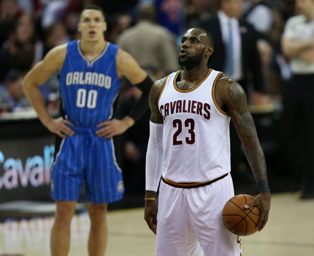 LeBron James and the Cavaliers were walloped by the Orlando Magic on Saturday. Photo by Aaron Josefczyk/UPI